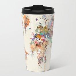 world map watercolor Travel Mug