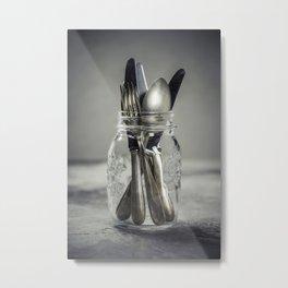 Forks spoons and knifes Metal Print