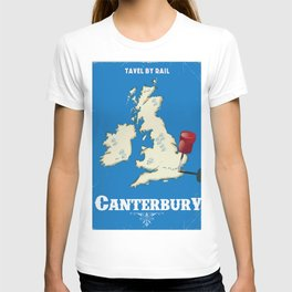 canterbury Vintage rail travel poster T-shirt