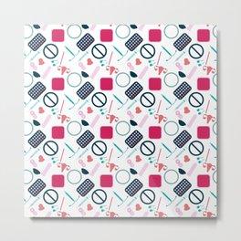 Contraception Pattern Metal Print