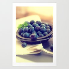 Blueberry plate Art Print