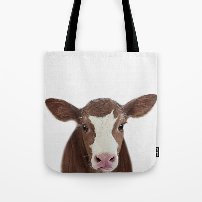 Cow Print Farm Animal Prints Nursery Decor Art Baby Animals Tote Bag