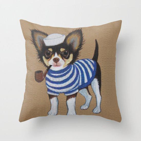 Chihuahua - Sailor Chihuahua Throw Pillow