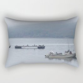 Foggy Morning on the Bay Rectangular Pillow