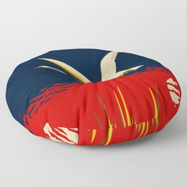 Ambition or trumpeter swan Floor Pillow