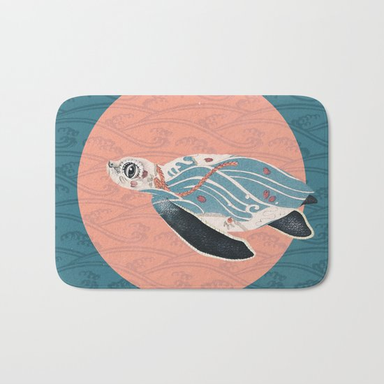Sea Turtle Polka Bath Mat