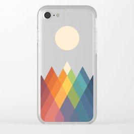 Rainbow Peak Clear iPhone Case