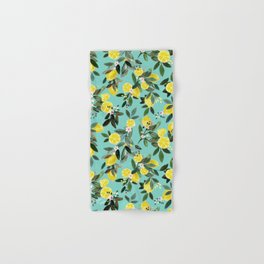 Summer Lemon Floral Hand & Bath Towel