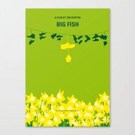 No993 My Big Fish minimal movie poster Canvas Print