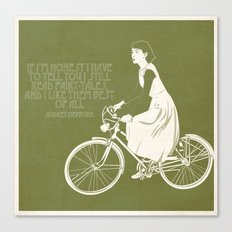 Audrey always knows what to say. Canvas Print