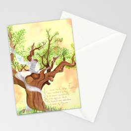 The concentrated Lady of the Oak Stationery Cards