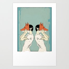 Foxes Print take 2 Art Print