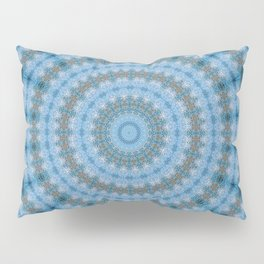 Kaleidoscope Blue Drops Pattern Pillow Sham
