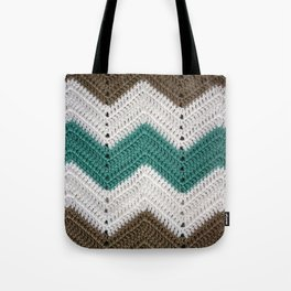 Diagonal Crochet Throw Tote Bag