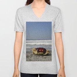Crab On The Beach Unisex V-Neck