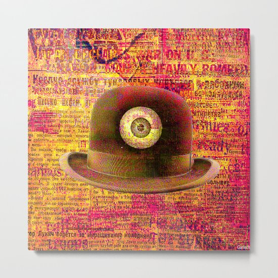 Mystical bowler hat Metal Print