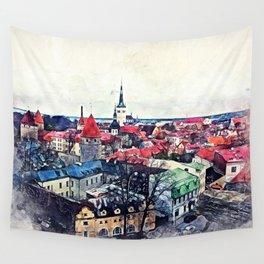 Tallinn Old Town Wall Tapestry