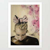 charmaine olivia Art Prints featuring Olivia by Claire Lee Art