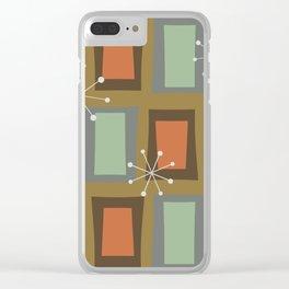 Mid Century Modern Art 'Wonky Doors' Clear iPhone Case