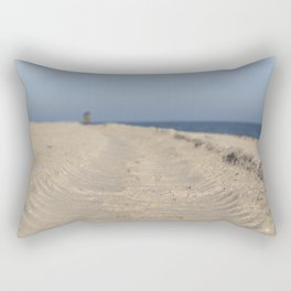 Traces in the sand Rectangular Pillow