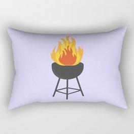 BBQ on Fire Rectangular Pillow
