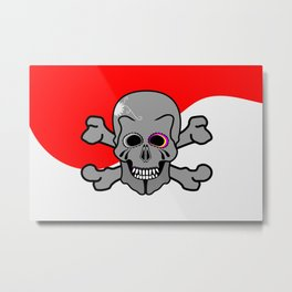 Jolly Roger Metal Print