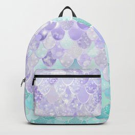 Mermaid Iridescent Purple and Teal Pattern Backpack
