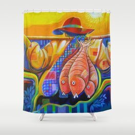 SALAO, SALAO, PECAO SALAO Shower Curtain
