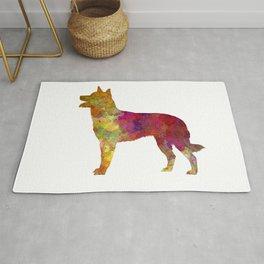 Australian Kelpie dog in watercolor Rug