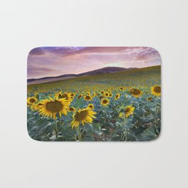 Wonderful Sunflowers. Pink Sunrise Bath Mat