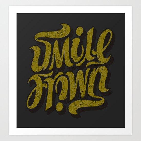 Smile / Frown Art Print