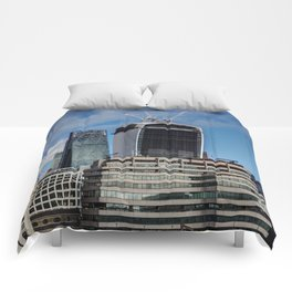 The walkie Talkie and Cheese Grater Comforters