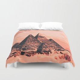 pyramid egypt monumental Duvet Cover