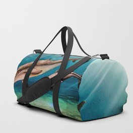 Dolphins, watercolor Duffle Bag