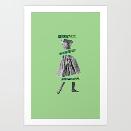 Girly Green Art Print