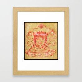 New Years Riri Framed Art Print