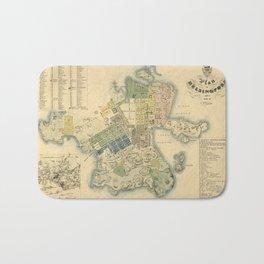 Map Of Helsinki 1837 Bath Mat