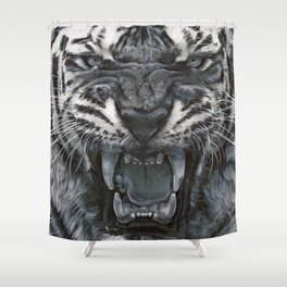 Tiger Roar! - By Julio Lucas Shower Curtain