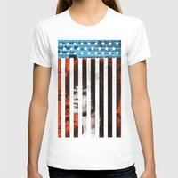 political T-shirts featuring Angela Davis Political Prisoner by Robert John Paterson
