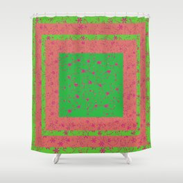 Abstract Artwork Colors of Spring Shower Curtain