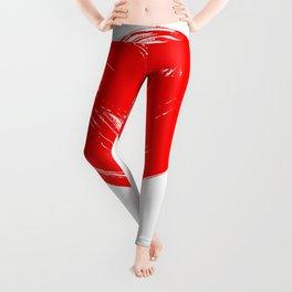 Red Heart painting Leggings
