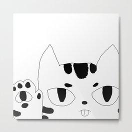 Cute Cat Art Metal Print