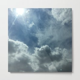 Wispy Clouds Metal Print