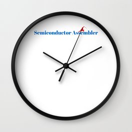 Semiconductor Assembler Ninja in Action Wall Clock