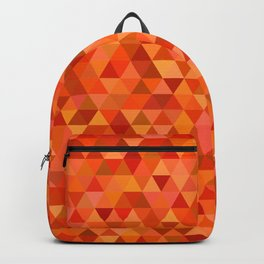 Hot orange triangles Backpack