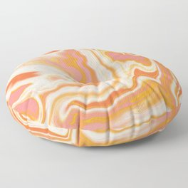 orange marble Floor Pillow