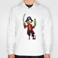pirate Hoodies featuring Pirate by Cardvibes.com - Tekenaartje.nl
