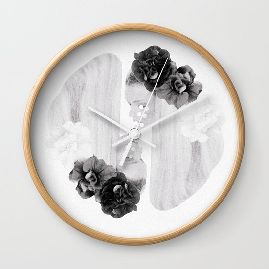 selene and eos (black and white) Wall Clock