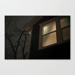 Night Window Canvas Print
