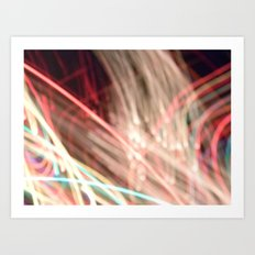 all these lights. Art Print